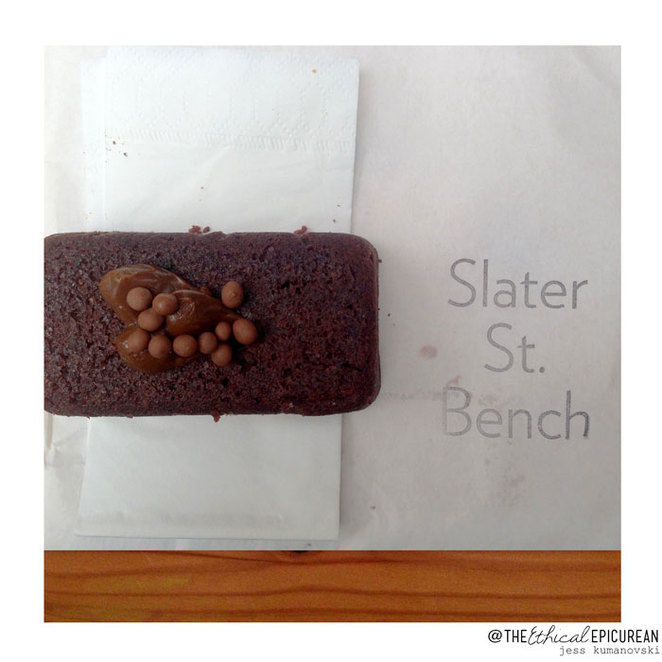 slater st bench, melbourne, snacks, cakes, dessert, food, clement coffee, coffee, chocolate, bahen & co, iced coffee, locally sourced