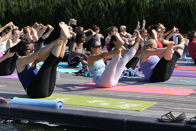 Southbank Parklands, exercise, pilates, yoga, bubercise, aqua aerobics, health, free, workout