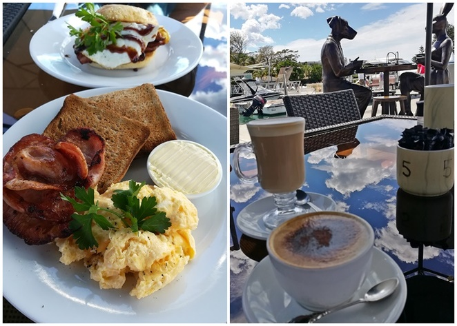 the boat shed cafe, soldiers point, marina, cafe, water views, breakfast, lunch, coffee, cake, water views, sunset beach, bacon and eggs, coffee, cheap, budget, NSW, port stephens,