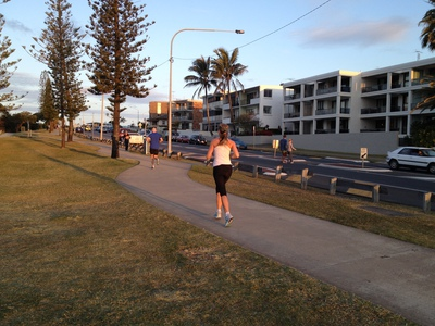The footpath is popular for morning and afternoon jogs