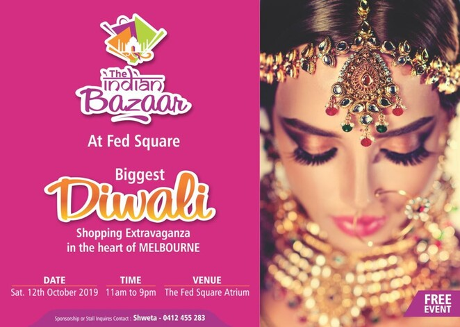 the indian bazaar fed square 2019, the indian bazaar 2019, federation square, free indian event, shopping, bollywood, diwali 2019, karva chauth 2019, market stalls, stallholders, food trucks, music, indian fashion, entertainment, henna tattoos, face painting, giveaways, activities, community event, fun things to do, family friendly, family day out
