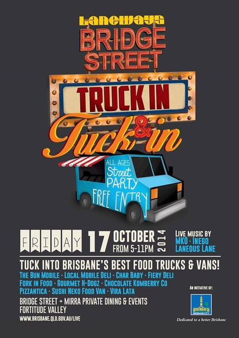 Truck In and Tuck in, Food Truck, Street Food, Festival, Laneways, Fortitude Valley, Bun Mobile, Pizza, Japanese,