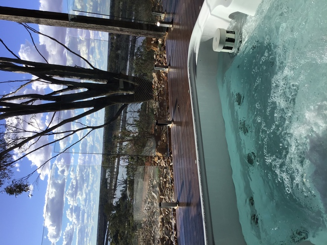 A spa with a view. Pike River luxury villas.