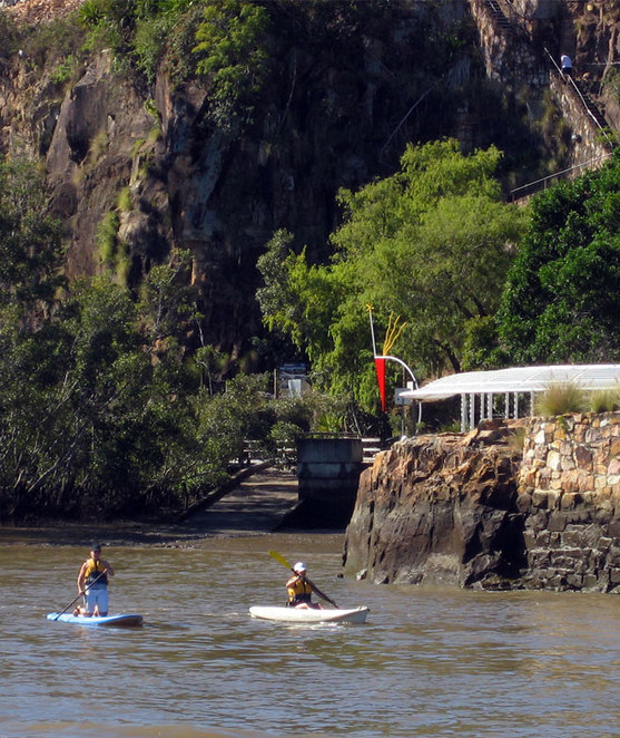 Paddling the Brisbane River
