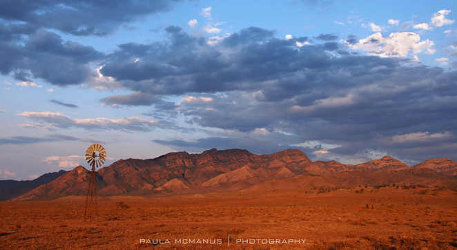 Bunbinyunna Range from Merna Mora, Flinders Ranges, South Australia