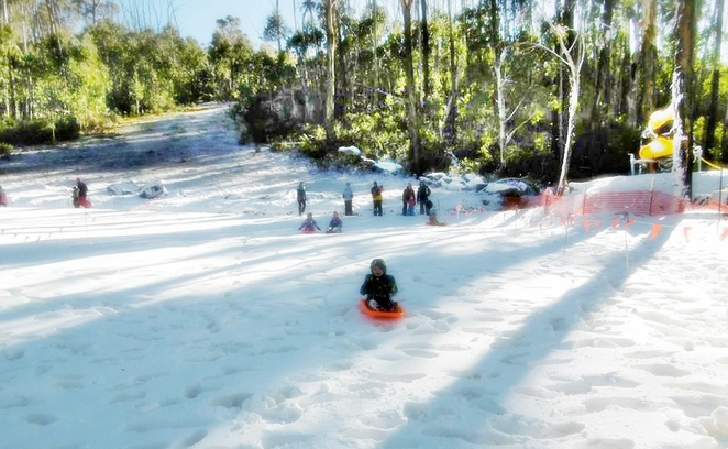 corin forest, snow, taboganning, canberra, ACT