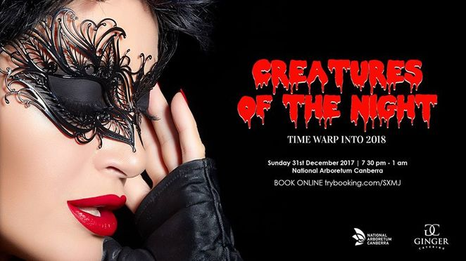 creatures of the night, canberra, ACT, new years eve, ginger catering, national arboretum, 2017, 2018, events,