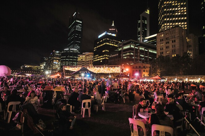Designer bottle giveaway, City of Perth, Good Food Month, Fairfax Events and Entertainment, Night Noodle Markets, Elizabeth Quay, dining out, Matthew Wong, Rebecca Mills, Straker, Higher Studio.