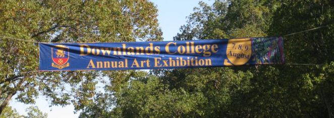 Downlands Art Exhibition banner