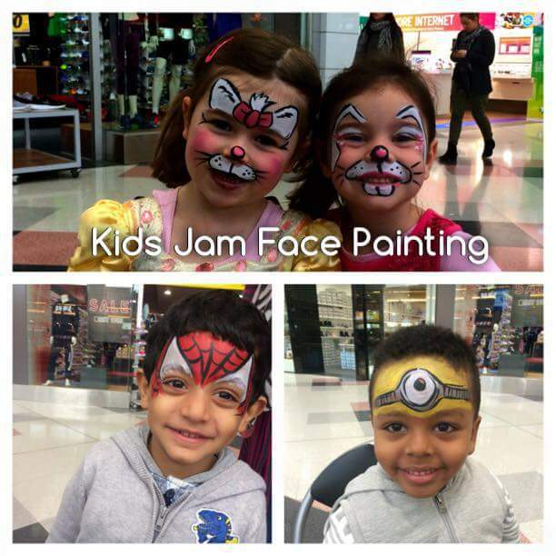 Face paint, kids, fun, kids jam face painting, lost and found market