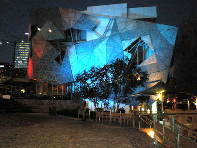 Federation Square by night