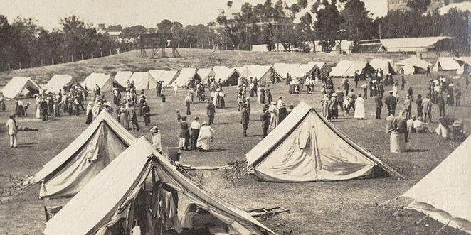 State Library of South Australia, Quarantine Camp at Jubilee Oval, PRG 1638/2/99