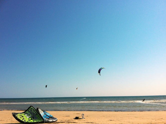 Kiteboarding with WINDSUP