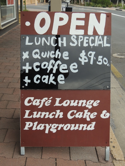 in adelaide, south of adelaide, cafe, tram stop, coffee, tapas, sandwiches, playground, children, special