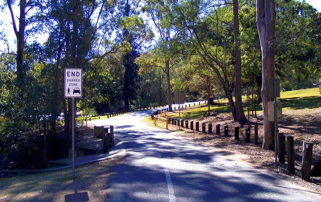 Walking through the JC Slaughter Falls Picnic Area car park you are nearly back to the start