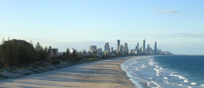 Mermaid beach has no high rise development