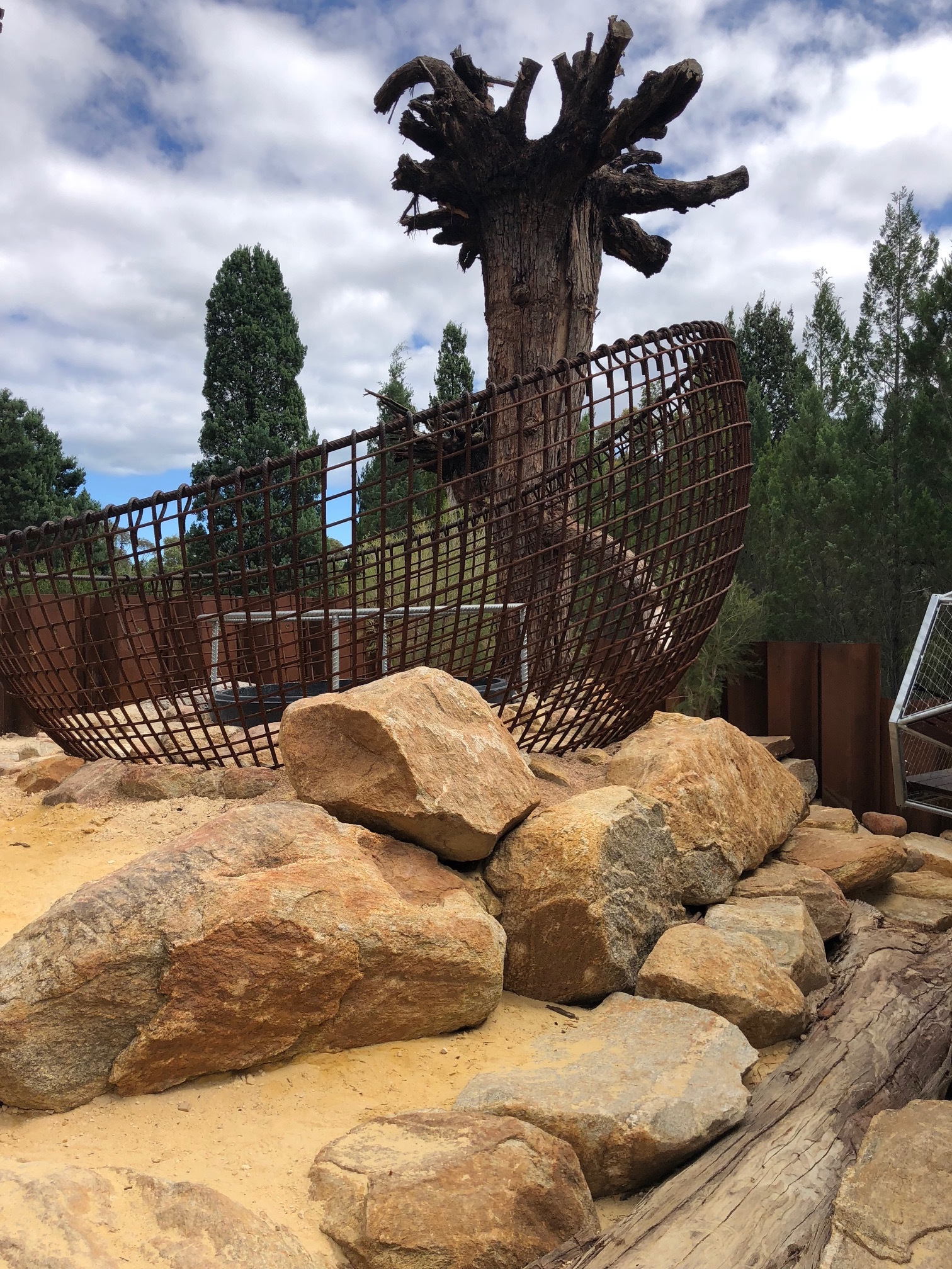 tinto rio naturescape kings park perth nature play rocks revamp completion stage lots there