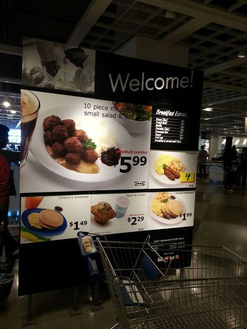 Other meal options at Ikea, Vaughan