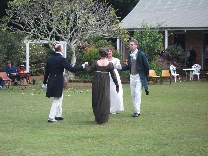 picnic at Pemberley, mr Darcy, regency, maypole, military display, abbey museum, stained glass, tea