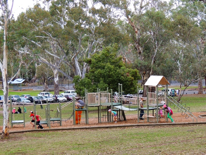 playground in, a playground, playgrounds, park in adelaide, adventure playground, play equipment, belair national park, walking trails, play equipment