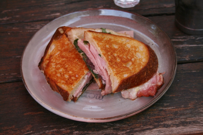 Porky Pig toastie Three Monkeys cafe
