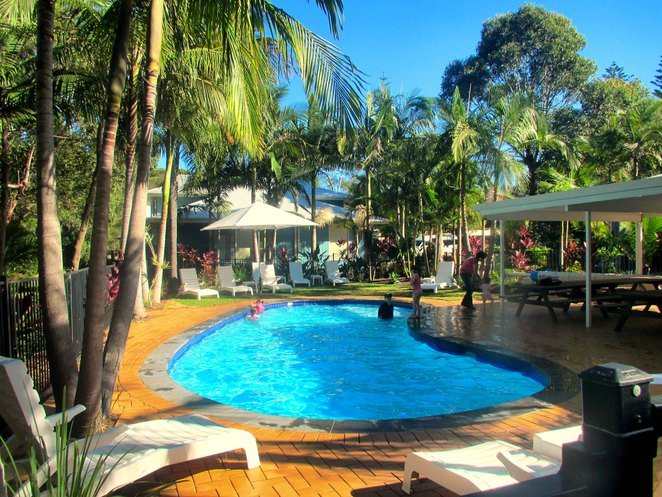 Port Macquarie Flynns on Surf Central New South Wales Coast Flynns Beach ocean sea sand sun swimming surfing accommodation villa pool location