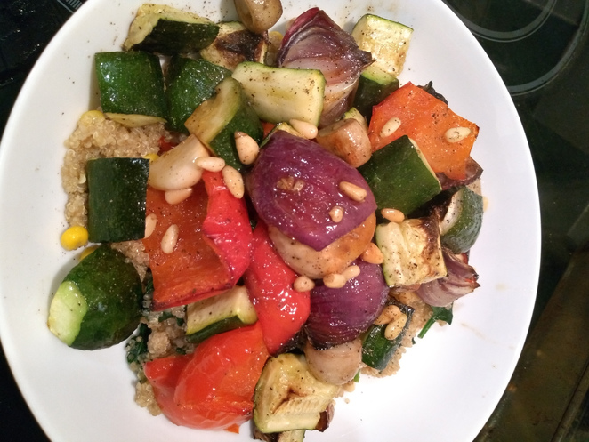 quinoa and roasted vegetables