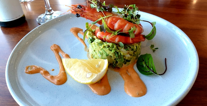 Seafood, lunch, prawns, avocado, entree, Newcastle