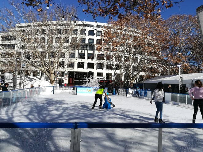 skating at, canberra, ACT, school holidays, winter, july, 2018, outdoor ice skating, whats on, activities, la petite grand theatre, shows, circus wonderland