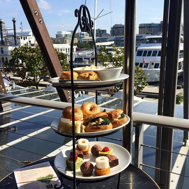 superfood high tea, the loft, cocktail bars darling harbour, high tea venues, girlis day out