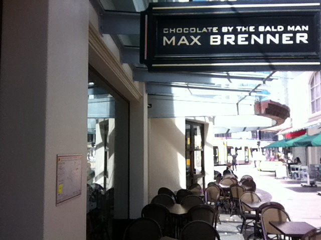 Surfers paradise, max Brenner, dessert bar, sweets, coffee, cakes, cafe, Gold Coast