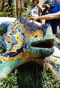 The Dragon Fountain in Park Guell
