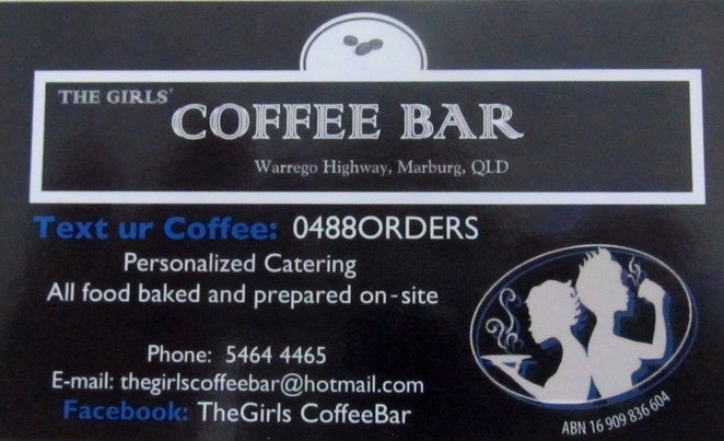 The Girls' Coffee Bar coffee meals dine in take away Marburg Warrego Highway Lockyer Valley catering