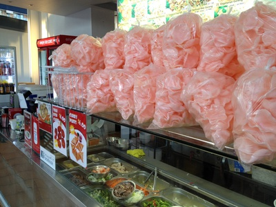 The wall of prawn crackers