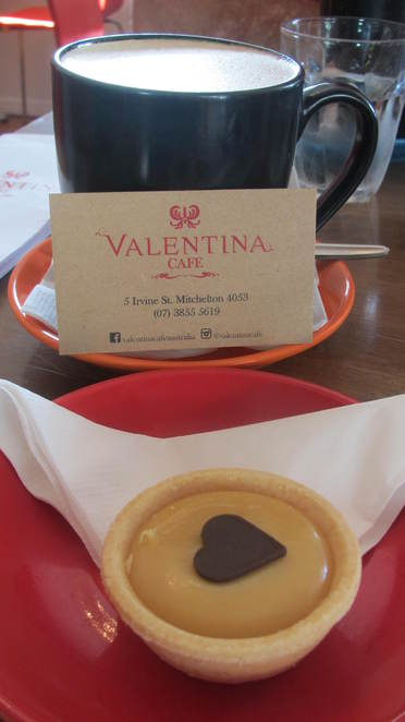 Valentina Care, Mitchelton, coffee, cake, caramel tart