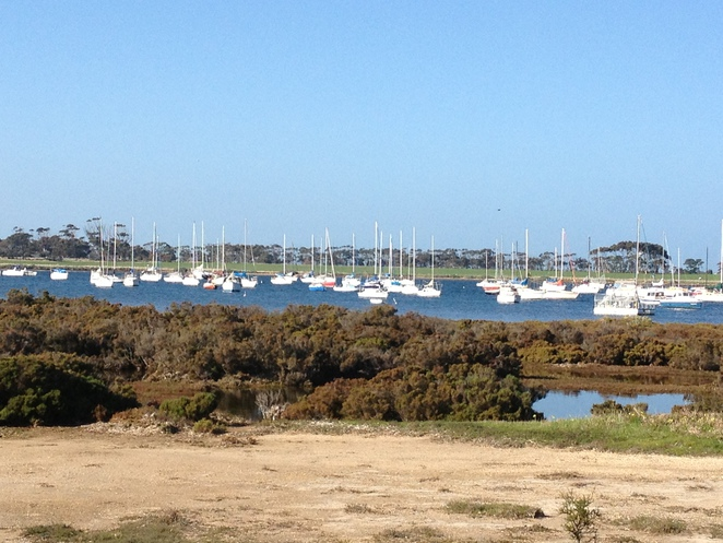 Yachts moored at Grammar School Lagoon