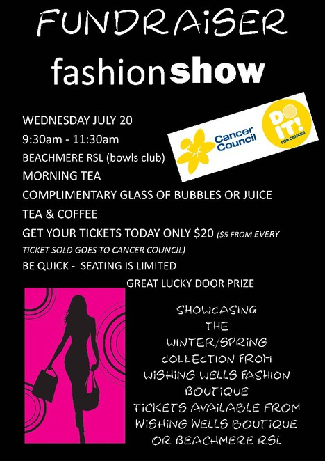 Wishing Wells Boutique, Beachmere, fashions, Cancer Council