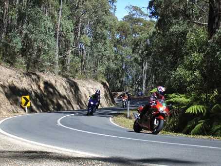 Yarra Ranges instructed motorcycle ride