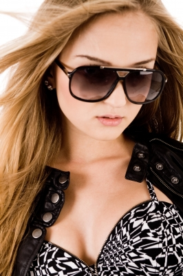 Young Brunette Model with Sunglasses
