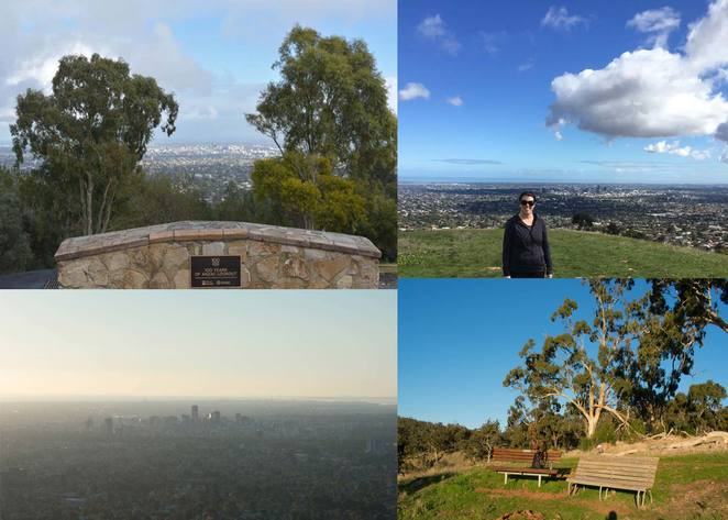 Adelaide, lookouts, walking