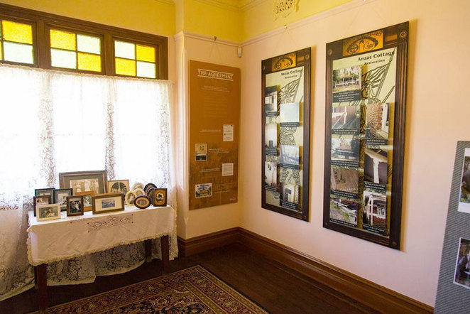 ANZAC Cottage interior Lovingly restored, 'Lest We Forget'.