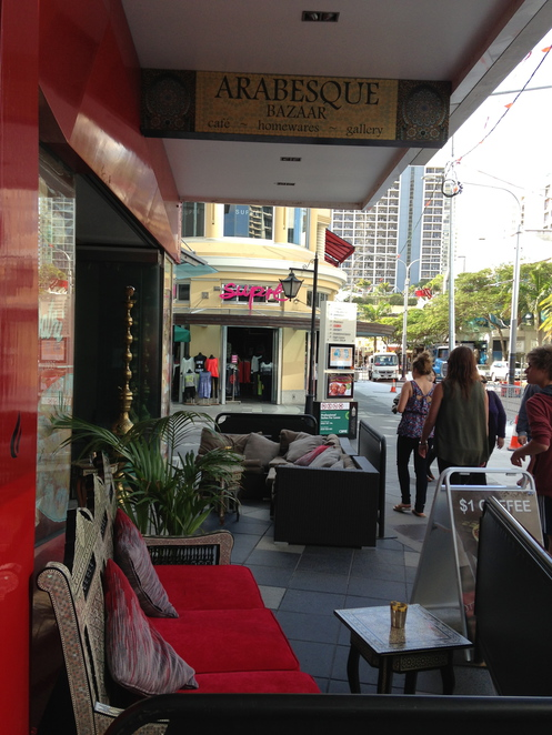 arabesque bazaar surfers paradise, gold coasts cheapest coffee