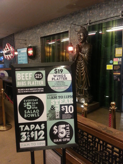 Asian Beer cafe 5 dollar meals