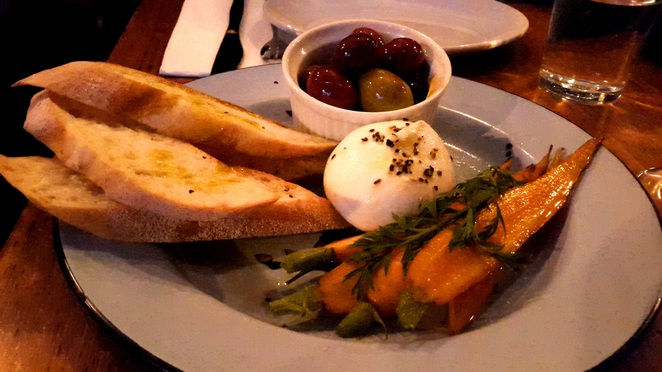 Buffalo Dining Club - Burrata cheese with sides