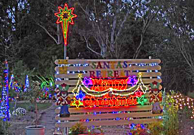 Christmas, Lane, Lights, Display, 2018, Lobethal, Santa, retreat