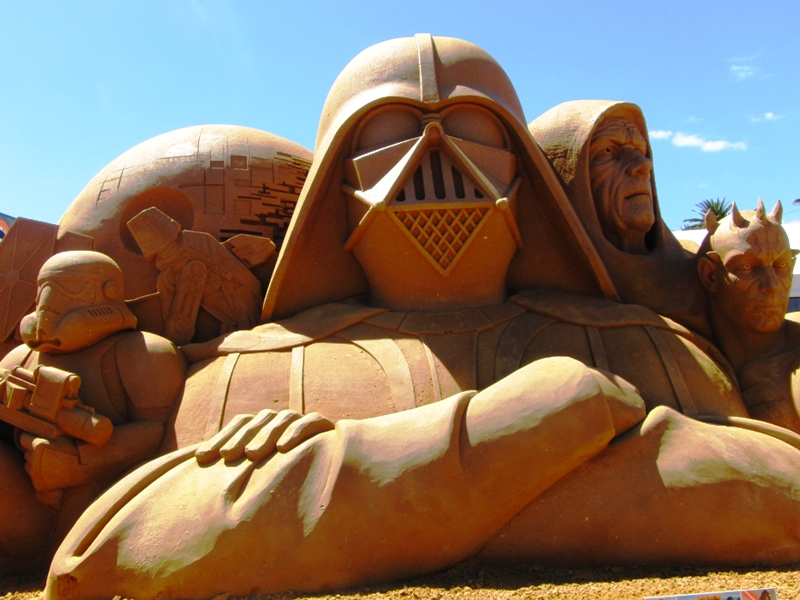 friends foes super heroes sand sculpting exhibition at frankston