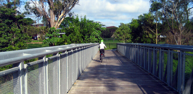 Cycling on the Kedron Brook Cycleway