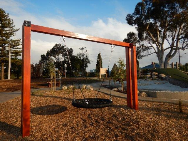 War Memorial Park Nature Playspace, nature playground, Murray Bridge