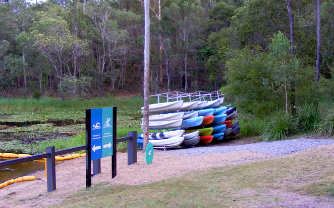 Kayaks for hire at Walkabout Creek