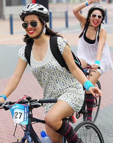 Gear up Girls, Girls on Bikes, Womans Cycling, Fun on Bikes, Get out on your bike